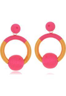 Brinco Le Diamond Vivienne Pink E Amarelo