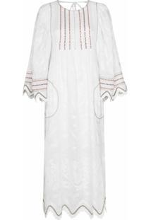 Vita Kin Vestido Midi Virginie Com Abertura Posterior - Branco