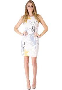 Vestido Estampado Lucidez - Feminino-Off White