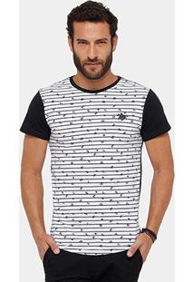 Camiseta Rg 518 Bicolor Mini Print Masculina - Masculino
