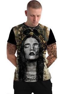 Camiseta Stompy Tattoo Rock Collection 99 Preto