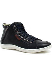 Sapatênis Casual Zariff Shoes Cano Baixo Preto