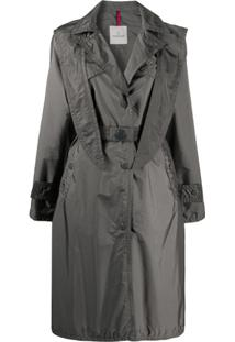Moncler Trench Coat Com Cinto - Cinza
