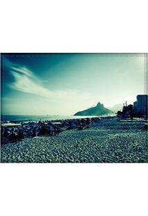 Jogo Americano Decorativo, Criativo E Descolado | Paisagem Da Praia De Ipanema No Rio De Janeiro, Rj - Tamanho 30 X 40 Cm