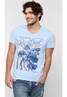 Camiseta Sommer Estampa Frente - Masculino-Azul Claro