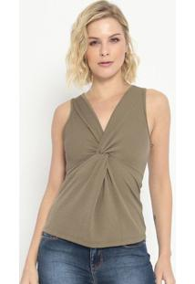 Blusa Ombro A Ombro Com Franzido - Verde - Colccicolcci