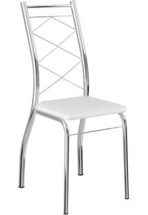 Cadeira 1710 2 Peças - Cromado Com Napa Branco