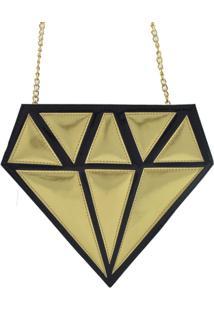 Bolsa Clara Edery Diamante - Feminino-Cinza