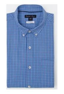 Camisa Manga Curta Comfort Bicolor