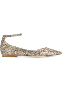 Jimmy Choo Sapatilha De Couro 'Lucy' - Metálico