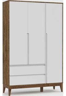 Roupeiro Nature Clean 3 Portas Branco Soft / Teka / Eco Wood - Branco - Dafiti