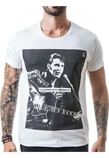 Camiseta T-Shirt Liferock Elvis - Masculino-Branco