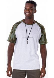 Camiseta Raglan Moderna Camuflada