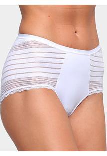 Calcinha Hot Panty Liz Streamline 80913 - Feminino-Branco