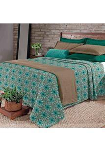 Kit Cobertor Blanket Hedrons Queen Vintage Plush