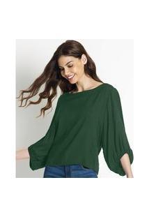 Blusa Feminina Sarjada Endlees Verde