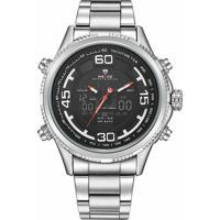 4e4c44f223 Relógio Masculino Weide Anadigi Wh-6306 - Masculino-Prata