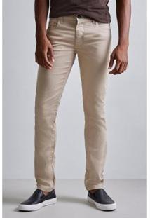 Calça Pf Skinny Color Prim19 Reserva Masculina - Masculino-Bege