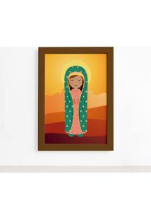 Quadro Nossa Senhora De Guadalupe Moldura Marrom 22X32Cm - Multicolorido - Dafiti