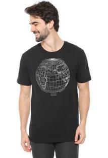 Camiseta Talismã Store De Algodão Eco Canyon Mundi Masculina - Masculino-Preto