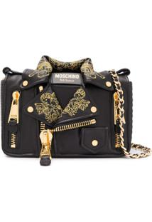 Moschino Biker Jacket Shoulder Bag - Preto