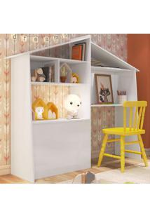 Mesa Escrivaninha Com Baú Ei3070 Branco - Art In Móveis