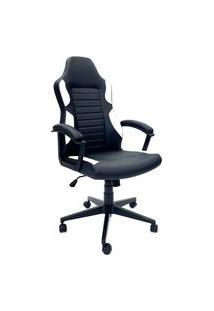 Cadeira Office Byartdesign Gamer Preto E Branco