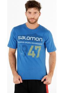 Camiseta Masculina 1947 Tam G Azul - Salomon