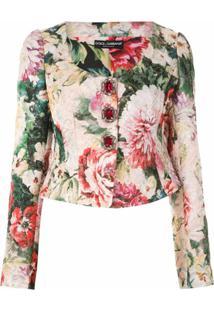 Dolce & Gabbana Blazer Jacquard Acinturado - Rosa