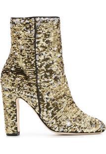 Paris Texas Ankle Boot Com Paetês - Dourado