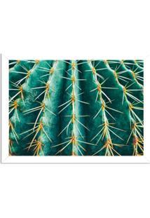 Quadro Decorativo Cacto Verde Branco - Grande
