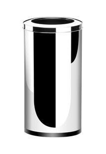 Lixeira Inox Com Aro 64 Litros - Decorline Lixeiras Ø 35 X 70 Cm - Brinox