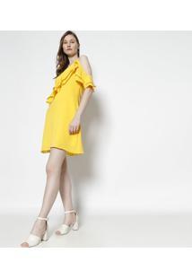 Vestido Texturizado - Amarelomoiselle