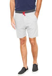 Bermuda Calvin Klein Jeans Reta Cinza