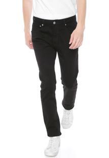 Calça Sarja Calvin Klein Jeans Slim Color Preta