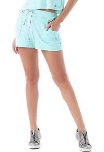 Shorts Candies Vestem Feminio - Feminino-Verde Água