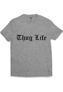 Camiseta Skill Head Thug Life - Masculino-Cinza