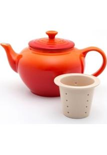 Bule De Chá Com Infusor Laranja Le Creuset
