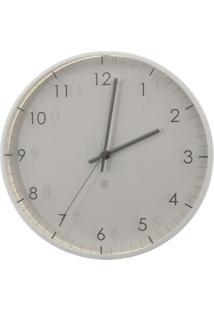 Relógio De Parede Pace 31,8 Cm Branco Umbra