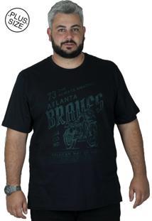 Camiseta Bigshirts Estampa Braves Preta