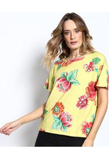 Camiseta Manga Curta - Amarela & Rosa - Sommersommer