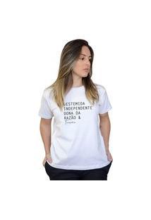 Camiseta Boutique Judith Taurinas Branco