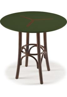 Mesa Bistrô Opzione 76 Cm 891 Imbuia/Verde Musgo - Maxima