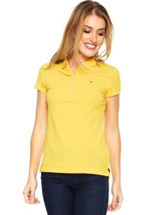 Camisa Polo Tommy Hilfiger Slim Amarela