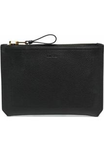 Tom Ford Clutch Com Logo Gravado Buckley - Preto