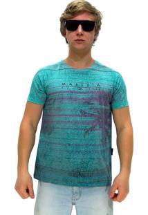 Camiseta Manga Curta Maresia Texture Green
