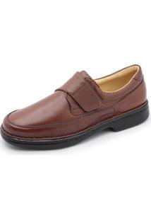 Sapato Centuria Conforto Tamanho Grande Amendoa