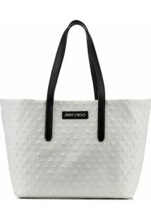 Jimmy Choo Star Stud-Embellishment Tote Bag - Branco