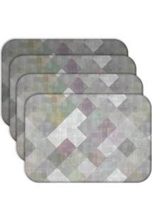 Jogo Americano Love Decor Abstract Kit Com 4 Peças.