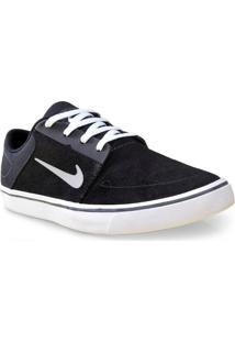Tenis Masc Nike 725027-012 Sb Portmore Preto/Branco/Cinza